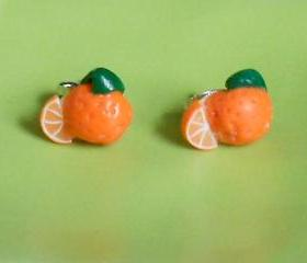 Orange Earring Studs