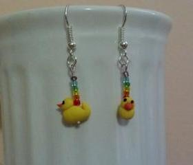 Bath Duckie Earrings